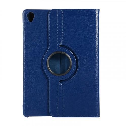 Роторный чехол книжка подставка на непрозрачной поликарбонатной основе для Huawei MediaPad M6 10.8  Синий - купить в Минске на 100gadgets.by